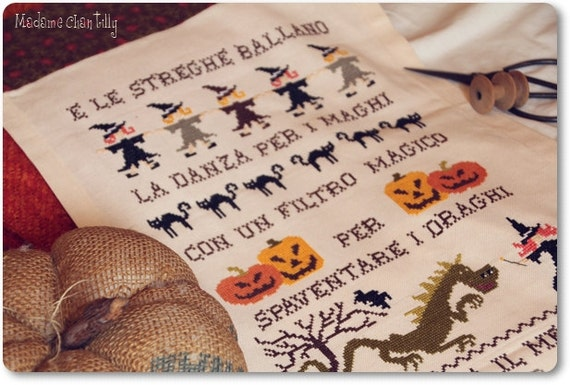 E le streghe ballano... - Cross Stitch Chart in PDF format