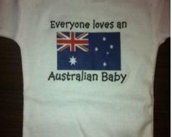 Everyone loves an Australian baby funny custom newborn infant creeper babygro one piece snapsuit outfit, you choose color and size!