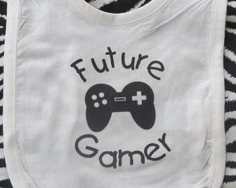 Future Gamer baby bib, video game baby bib, future gamer bib, video game bib, gamer baby bib, video game baby boy, video game baby girl