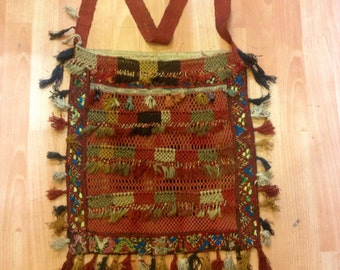 old bag uzbek bag asian bag ethnic bag accessories bag tribal bag asian textile uzbek textile decorative bag