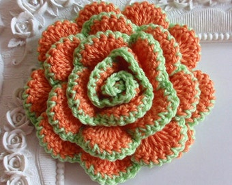 Crochet flower applique CH-022-06