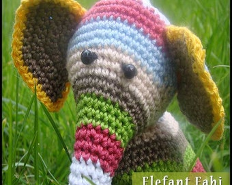 Amigurumi elephant FABI