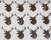 24 deer head vinyl stickers. Baby Shower, Boy Birthday, Hunter Birthday, Hunter, Antlers, Gender Reveal, cups, gift bags, invites B-75