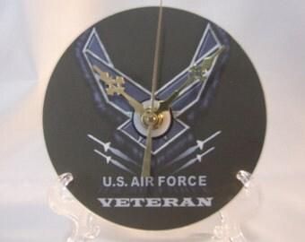 US Air Force Wing Veteran CD Clock