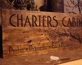 Custom Wood Sign, Personalized Camping Signs, Cabin Sign, Carved Address Plaque, Personalized wood Sign, Cottage Sign Christmas Gift Ideas