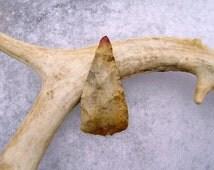 "Early Archaic Native American ""Blood Tip""  Triangular Blade Artifact"