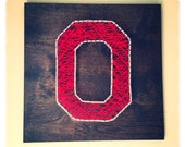 Ohio State Block O String Art