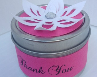 Spice Favor Tin with Paper Flower Topper
