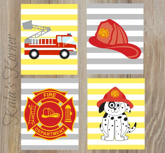 FIREFIGHTER Decor Firefighter Decor Firefighter Playroom