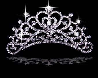 bridal hair accessories, beautiful shiny hair accessories hairpinHeart-shapedImperial crown
