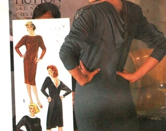 "Simplicity 6701, Sz 12. Bust 34"". Deep V back Dress, Lauren Hutton pattern"