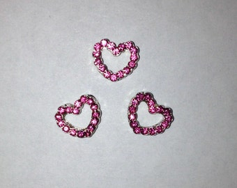 Pink Heart Slider Bracelet Charms