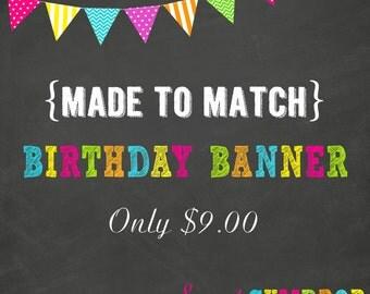 Birthday Banner - Printable