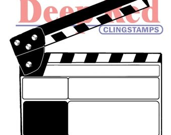 "Movie Clapper 2"" x 2.2"" cling stamp by Deep Red"