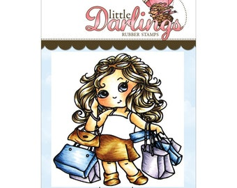 Shop-a-Holic (Cutie Pies collection) - cling rubber stamp by Little Darlings Rubber Stamps