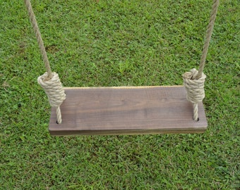 popular items for wood tree swing on etsy. Black Bedroom Furniture Sets. Home Design Ideas