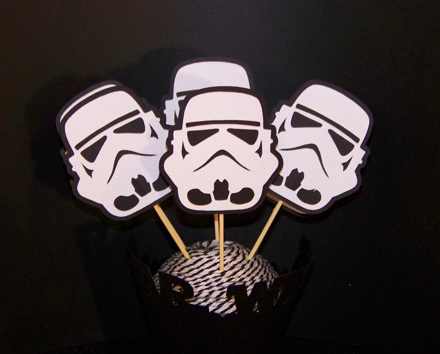 Cupcake Toppers Star Wars Inspired Storm Trooper layered