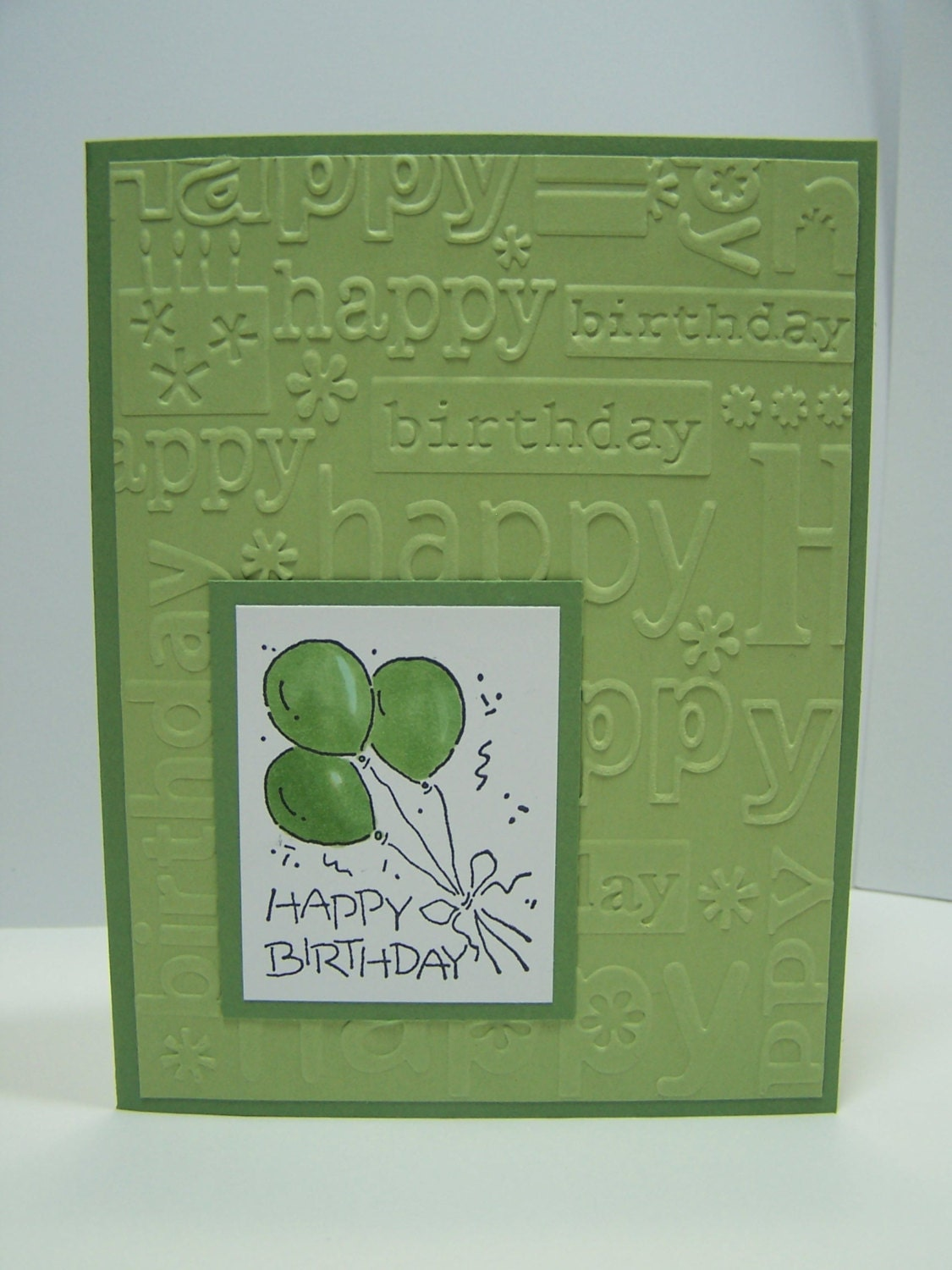 Stampin Up Handmade Greeting Card: Birthday Card Masculine