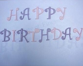 Fondant Happy Birthday Letters Cake Decoration, Cake Topper, Cupcake Topper