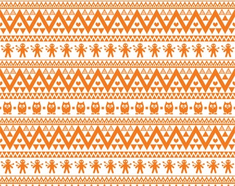 Orange owl tribal pattern craft  vinyl sheet - HTV or Adhesive Vinyl -  Aztec Peruvian pattern HTV324