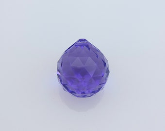 Swarovski Crystal Ball 20MM Prism, ONE(1)Purple Crystal Ball, Strass™ Article 8558,Article 8550, Genuine Lead Crystal, Suncatcher, Feng Shui