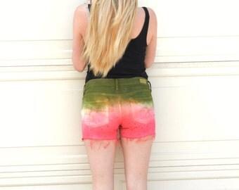 Watermelon shorts - womens watermelon shorts - Womens Denim Jeans Shorts Womens Shorts Teen Shorts - girl shorts - summer shorts