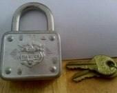 Vintage Materlock  Padlock 77 with 2 Keys