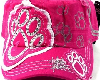 Fucsia Pink Paw Patch Cadet Hat