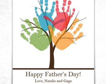 PRINTABLE Handprint Tree Gift - Customize Wording - Personalized Handprint Tree 8x10 or 11x14 Print - Child Hand Art, Kid Art