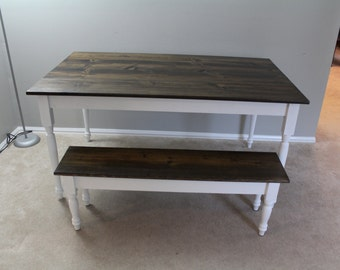White French Country Side Farmhouse Table