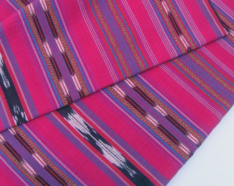 Fuchsia Fabric (#27) - South American Fabric - Handloomed Fabric - sold by the yard