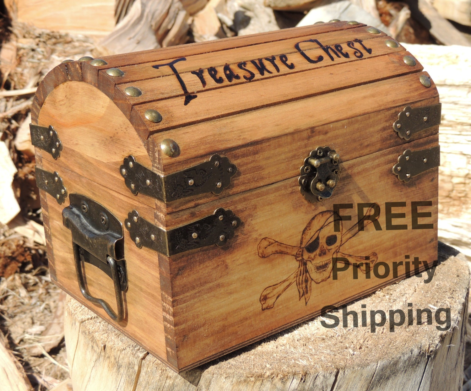 Custom Pyrography Treasure Chest Small Medium or by ...