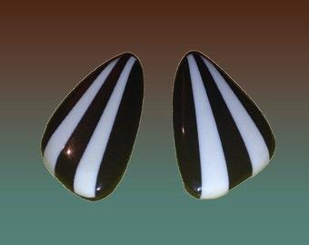Super Mod Large Striped Earrings