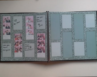 Silver Glitter Themed Photobooth Guest Book