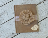 Country Wedding Guest Book, Rustic Wedding Guest Book, Barn Wedding Guest Book, Burlap Guest Book, Personalized Guest Book