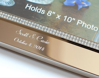 Personalized photo frame  - Wedding photo frame - Engraved photo frame - Picture frame 8x10