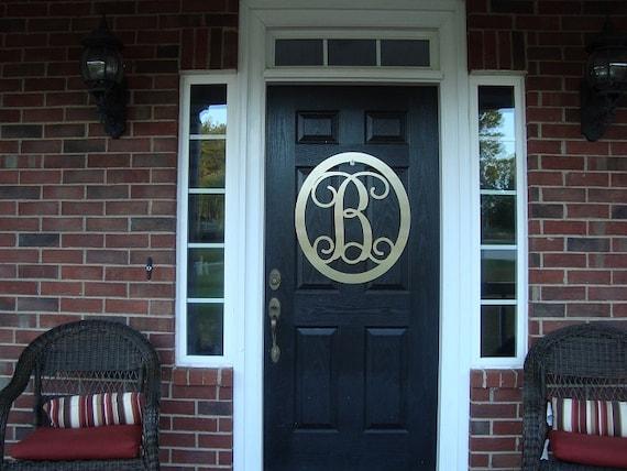 letter door hanger front door wreath summer by housesensations