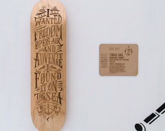 Limited edition Engraved skateboard