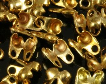 ball chain end caps 144 pcs raw brass end caps 2,3 mm,  CS2R