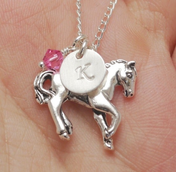 Horse Necklace Horse Charm Horse Little Girl Necklace