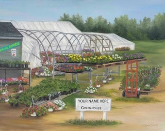 My Greenhouse, Personalized Print Size 8x10 With 11x14 Mat Of Your Choice
