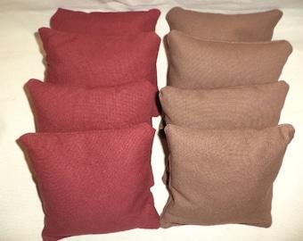 Cornhole bags Brown and Burgundy maroon cornhole bean bags 8 ACA Regulation bean bags