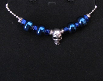 Blue European Beaded Necklace -  Item Number - 5012
