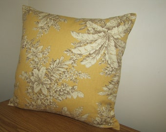 SALE! Yellow pillow cover with floral design