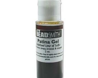Liver of Sulfur, Patina Gel Beadsmith Liver of Sulphur, 2 oz, Oxidize Metal, Age Metal, Blacken Copper Silver Brass