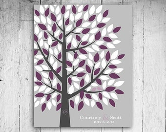 Wedding Guest Book - The Wedding Tree Alternative to Guest Book - An Interactive Art Print - 55-300 guest sign in