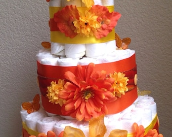 Harvest diaper cake