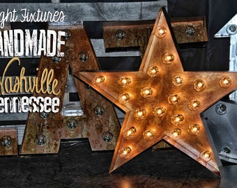 marquee star marquee letter lighted metal marquee sign marquee light fixture marquee star - Lighted Marquee Letters