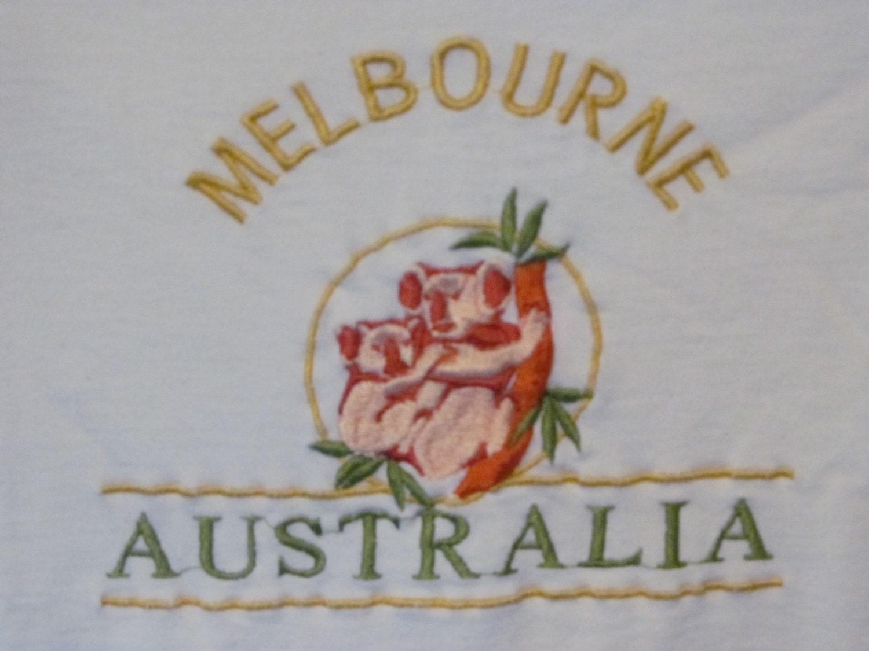 Koala bear tshirt melbourne australia embroidered t