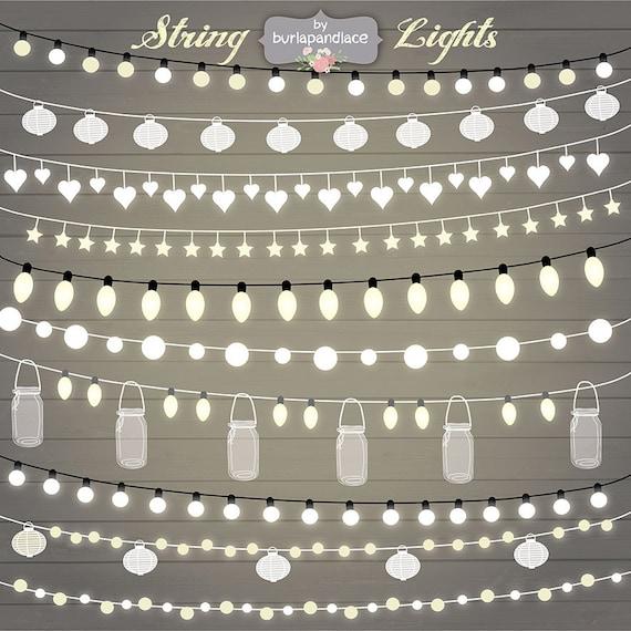 String Lights Clipart wedding invitation Clipart lights
